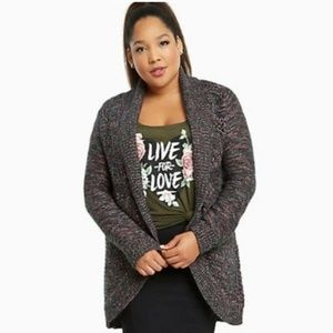🔥2/$25 Torrid size 2X cable knit open front cardi